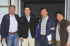 Dr. Gino Boero, Dr. Flavio Nogueira, Dr. Ray Salazar y Dra. Angela Matumay